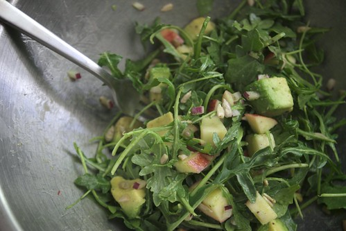apple avocado arugula salad