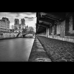 Front of Notre Dame (Zed The Dragon) Tags: winter light sunset bw white black paris france seine architecture photoshop 35mm reflections pose french geotagged effects photography iso100 photo long exposure flickr noir minolta photos sony hiver f100 notredame full exposition frame nd fullframe alpha blanc reflets quai postproduction hdr highdynamicrange sal zed virginie 2012 francais lightroom historique effets quais storia longue parisien photomatix 24x36 0sec 100faves a850 sonyalpha nd1000 hpexif 100fave 100commentgroup dslra850 alpha850 zedthedragon mosaique2012a