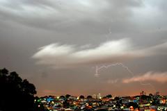 Lightning (carlosluz) Tags: sky cloud rain night chuva cu noite lightning nuvem raio
