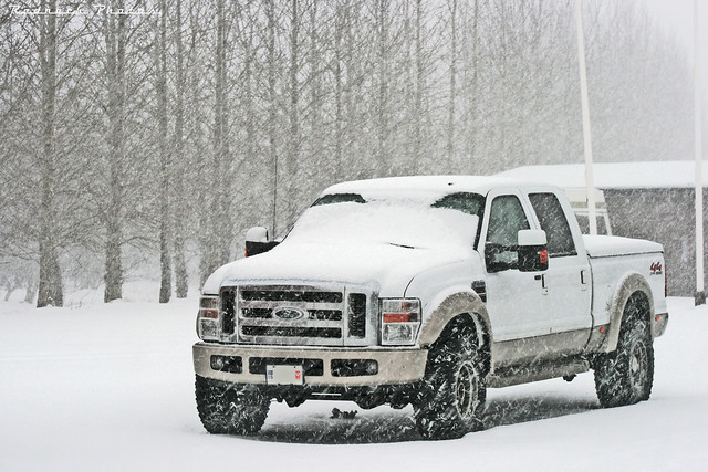 auto winter white snow ford car weather truck diesel american snowfall f350 worldcars