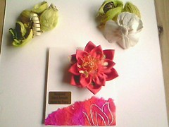 IMG0978A (rosyester) Tags: flowers handmade brooch fabric hairaccessory scarfclip