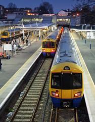Highbury & Islington Station (Neil Pulling) Tags: london train lowlight nightshot emu overground bombardier tfl highburyislington communting electrostar highburyislingtonstation londonoverground capitalstar class378 tfloverground 378151