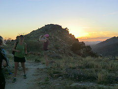 1203 Quick Break (c.miles) Tags: sunset alison santacatalinamountains blackettsridge danacaraway meganhaigh