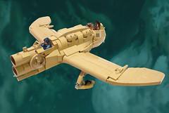 Valley Gunship (JonHall18) Tags: anime lego miyazaki scifi mito nausicaa gunship moc skyfi