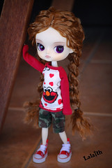 Harley  Elmo! (_Lalaith_) Tags: street red hearts star eyes all purple pants handmade sesame elmo stock dal tshirt camo wig braids tee lizbel