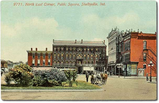 Northeast corner of Public Square, Shelbyville, Indiana