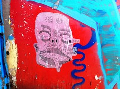"""IM SAD"" Tel Aviv   2012 (QUESERA) Tags: street art port paper happy graffiti israel friend sad im tel aviv que jaffa crew amos dolfinarium omp hallo 2012 sera posca srek loey my quesera"