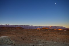Sunrise/Moonset over the Atlas Mountains (Dr. RawheaD) Tags: blue sky moon snow mountains canon landscape eos morocco atlas mk2 5d badlands 1740mm f4l sunrinse medilt