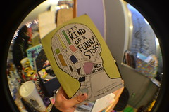 my favorite book in the entire world, and i got a fisheye lens (wankerology) Tags: its lens book funny fisheye kind story