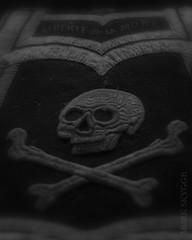 Dunkelheit LXXII (Myrkwood666) Tags: bw france monochrome dark death skull freedom blackwhite zwartwit mementomori sw skullandbones schwarzweiss tod liberte dunkel dood donker totenkopf dunkelheit schdel schedel dster duister darksome seelenwinter mrkskygge onlydeathisreal myrkwood666