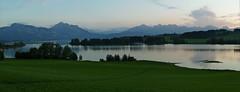 baviera (martem@r) Tags: autumn sunset panorama lake grass germany lago bayern europa europe tram