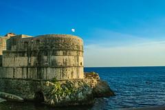 Old City Rampart (jcwolfe00) Tags: ocean blue sea people water canon 350d rebel xt coast croatia silvia rebelxt dubrovnik adriatic