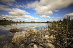 MILKY (Rober1000x) Tags: life statepark longexposure summer lake reflection nature clouds reflections florida miami reflejo 2014 fakahatcheestrandpreserve