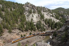 Bend It ('Sconsin Cental) Tags: railroad mountains up train colorado canyon unionpacific coal bouldercreek pinecliffe moffattunnelsubdivision tunnelsub