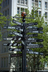 Portland Street Sign (swong95765) Tags: portland post streetsign signage directions distance information directional