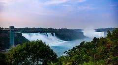 Two Falls (Arbron) Tags: ca ontario canada niagarafalls waterfall horseshoefalls americanfalls toronto2015