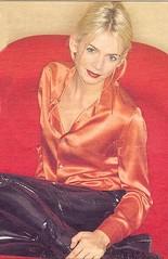 Zoë Ball in vinyl pants (Plastic Fashion!) Tags: fashion ball zoe tv pants vinyl plastic trousers pvc presenter