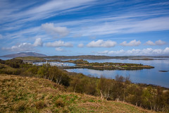 View down to Craobh Haven (Sarah-86) Tags: holiday water marina landscape bay scotland scenery argyll hill craobhhaven nikond810