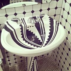 funky fixture #funky #sinks #bathrooms #fixtures... (doodooFORyooyoo) Tags: seattle blackandwhite bathrooms patterns fixtures funky porcelain sinks furnitures chinooks uploaded:by=flickstagram instagram:venuename=chinook27satsalmonbay instagram:venue=223696927 instagram:photo=7944781270142970683975078