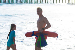 Oceanside Lifeguards (EthnoScape) Tags: ocean california red summer rescue tower beach water yellow youth danger swimming swim training athletic surf outdoor surfer lifeguard tourist rubber safety health bikini oceanside shore surfboard swimmer boardshorts fiberglass swimmers athlete fitness rookie assistance trainer fins drowning drown wetsuit baywatch lycra lifesaver riptide lifeguardtower polyurethane lifeguards lifesavers touristseason neoprene swimfins ripcurrent rescuer ethnoscape rescuetube cityofoceanside ethnoscapeimagery