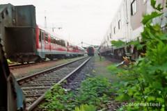 imm017_17 (coloredsteel) Tags: train canon graffiti ae1 steel kunst 400 program colored bombing ulm spotting rossmann trainwriting