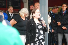 """Speaker from the audience at Plymouth Stands with Orlando Vigil • <a style=""""font-size:0.8em;"""" href=""""http://www.flickr.com/photos/66700933@N06/27475150420/"""" target=""""_blank"""">View on Flickr</a>"""
