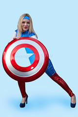 Armed with an Indestructible Shield (l plater) Tags: cosplay captainamerica marvelcomics sydneyolympicpark steverogers supanovaexpsydney2016