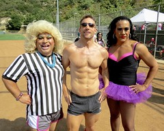 IMG_4526 (danimaniacs) Tags: shirtless man hot sexy guy pecs field baseball muscle muscular shorts softball dragqueen abs stud bulge friedalaye chicosangels chitaparol stevesiler