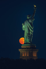 Liberty's Ball (JimmyKastner) Tags: park city newyorkcity summer usa moon newyork statue architecture night island bay harbor newjersey jerseycity unitedstates space northamerica statueofliberty outerspace moonscape libertyisland libertystatepark summersolstice newyorkbay hudsoncounty newyorkharbor notrh
