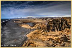 Dyrhlaey 7519 (roswell433) Tags: ocean snow mountains beach clouds rural blacksand volcano lava iceland waves south cliffs glacier shore eyjafjallajkull dyrhlaey