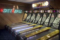 Skee Ball bowling game - bonus points (watts_photos) Tags: carnival gambling game ball tickets contest arcade games indoors gaming bowling points pinball bonus chance win machines arcades lose skeeball skee
