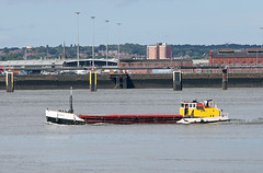 'Loach' on the Mersey 23rd June 2016 (John Eyres) Tags: grain barge loach moving between seaforth dock runcorn manchester ship canal 230616 msc mersey liverpool