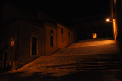 The night (Starlightworld) Tags: orange snow rome roma night lights staircase neve notte campidoglio scalinata colle nevearoma starlightworld snowinrome 04022012