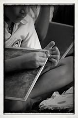 Concentration (megstewart) Tags: school india uniform child slate puri canoneos500d