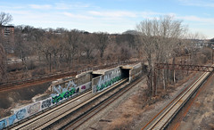 (Laser Burners) Tags: nyc newyorkcity graffiti bronx goa tracks trains rails tunnels ra won secr citynoise jas7 gwny02192012