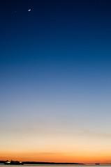 Solent at dusk (Mark J Hall) Tags: longexposure sea seascape beach clouds landscape february 2012 gosport markhall stokesbay 35mmdx nikond7000