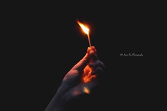 One strike, and you  have an open flame. (Anna's Simple Path) Tags: fire one day shadows hand open sad boring flame match illuminate irritating