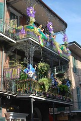 Mardi Gras in the French Quarter (cletch) Tags: architecture buildings neworleans bubbles frenchquarter mardigras wroughtironbalcony