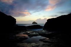 Cornwall (Stephen Walford Photography) Tags: sunset sea sky motion blur reflection beach strand coast movement long exposure cornwall trebarwith tintagel gullrock