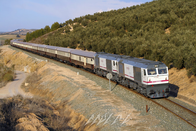 train tren al gm dynamic via brake express expreso lujo 323 renfe 304 curva 319 feve emd andalus freno luxure iznalloz integria dimanico