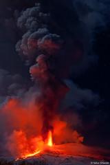 Smoking area (www.sicilylandscape.com) Tags: lava neve etna fuoco nubi parossismo