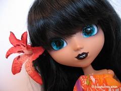 Gwen, Tropical Island Girl (kaahu no shin) Tags: summer japan toys doll tropical groove pullip batgirl wonderfestival junplanning rewigged rechipped