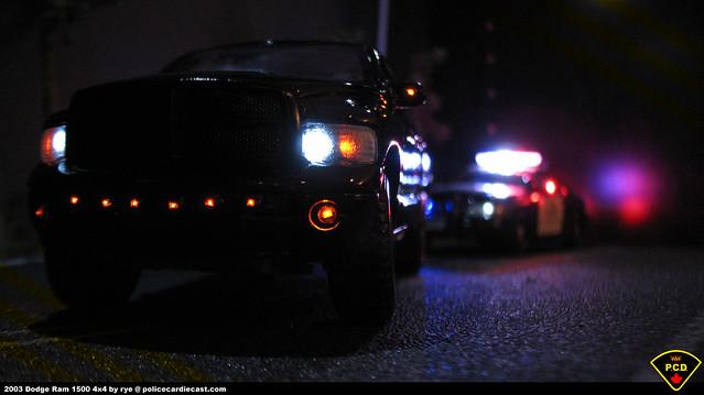 2003 car lights police led 127 dodge custom ram diecast maisto policecardiecastcom