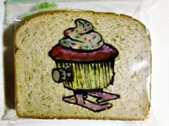 Wind-up walking cupcake (D Laferriere) Tags: art bag drawing sandwich cupcake sharpie attleboro sandwichbag drawrs laferriere lafney sandwichbagart