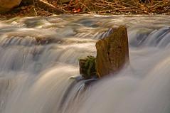 Stuck (+David+) Tags: waterfall corbettsglen howdiditgetthere allenscreek postcardfalls stuckwood