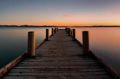 Magazine Bay sunrise (Nick Twyford) Tags: longexposure newzealand seascape water sunrise pier nikon jetty auckland wharf maraetai clevedon