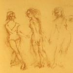 "<b>Three Graces</b><br/> Edna Hibel (-) ""Three Graces"" Lithograph, ca. 1973 LFAC #1997:08:09<a href=""http://farm8.static.flickr.com/7060/6852456395_d5b4e3b9f7_o.jpg"" title=""High res"">∝</a>"