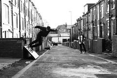 Jordan Partridge - Bs wall door ride (James Starkey) Tags: wall way alley ride skateboarding mark leeds bank jordan ii skate 5d partridge