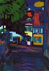 Wassily Kandinsky - Murnau, Houses on the Obermarkt, 1908 at Museo Thyssen-Bornemisza Madrid Spain (mbell1975) Tags: madrid houses art museum painting spain gallery museu expression kandinsky fine arts muse musee m espana expressionism expressionist museo thyssen muzeum mze murnau wassily thyssenbornemisza obermarkt bornemisza museumuseum