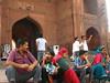 Family at Jama Masjid Delhi (Shaun D Metcalfe) Tags: india architecture delhi muslim mosque masjid shah jahan jama mughal